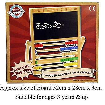 Wooden Abacus And Chalkboard Family Classics Games