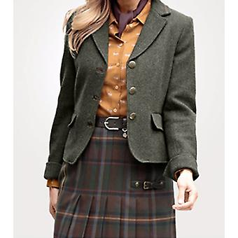 MONA of noble ladies Blazer from pure new wool plus size olive