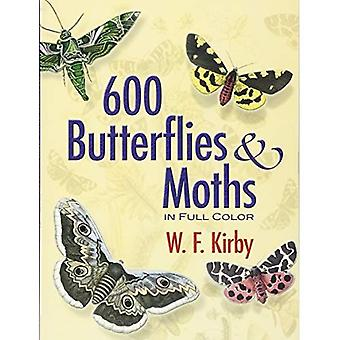 600 Butterflies and Moths in Full Color (Dover Pictorial Archive Series)
