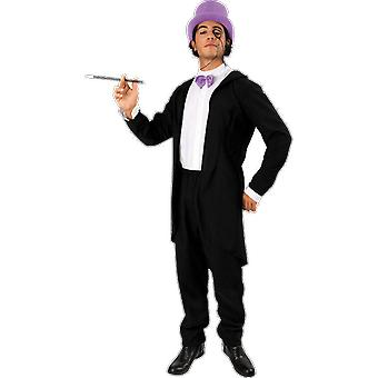 Mens Penguin Villain 60s Batman Suit TV Comic Halloween Fancy Dress Costume