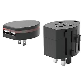 World Travel Adapter 2 With Dual USB Charger. Swiss Designed For Safety And Quality. Charge IPads IPhones IPods Blackberrys And Other USB Devices I
