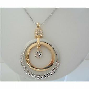 Round Striking HipHop Pendent Cubic Zircon 24 inches Chain