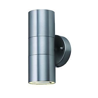 Aço inoxidável duplo levou luz da parede exterior do cilindro - holofote LED-2-5008