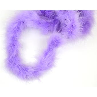 2m Lilac Marabou Feather Trim For Crafts
