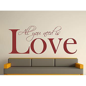 All You Need Wall Art Sticker - Burgundy