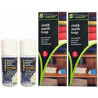 2 X Total Release 150ml With 2 X Xlure Moth Traps 3 Trap Pack