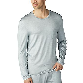 Mey Men 65640-656 Men's Jefferson Light Grey Melange Long Sleeve Top