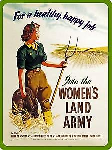 Womens Land Army metal fridge magnet