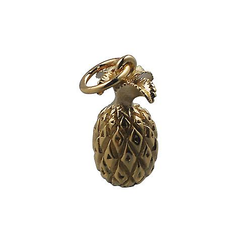 9ct Gold 13x8mm Pineapple Pendant or Charm