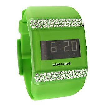Wize and Ope Classic  Green Digital  Watch WO-ALL-15S