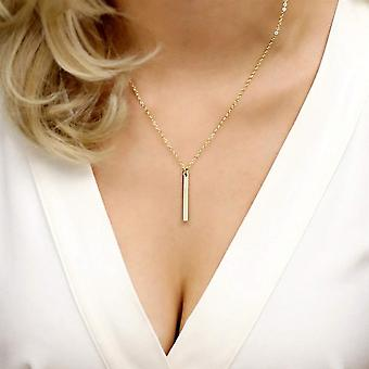 Vertical bar intial necklace