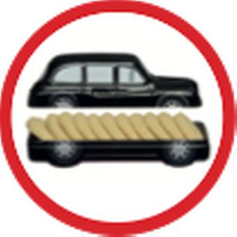 Licensed skyline of london taxi™ 100g english shortbread biscuits (sktaxi)