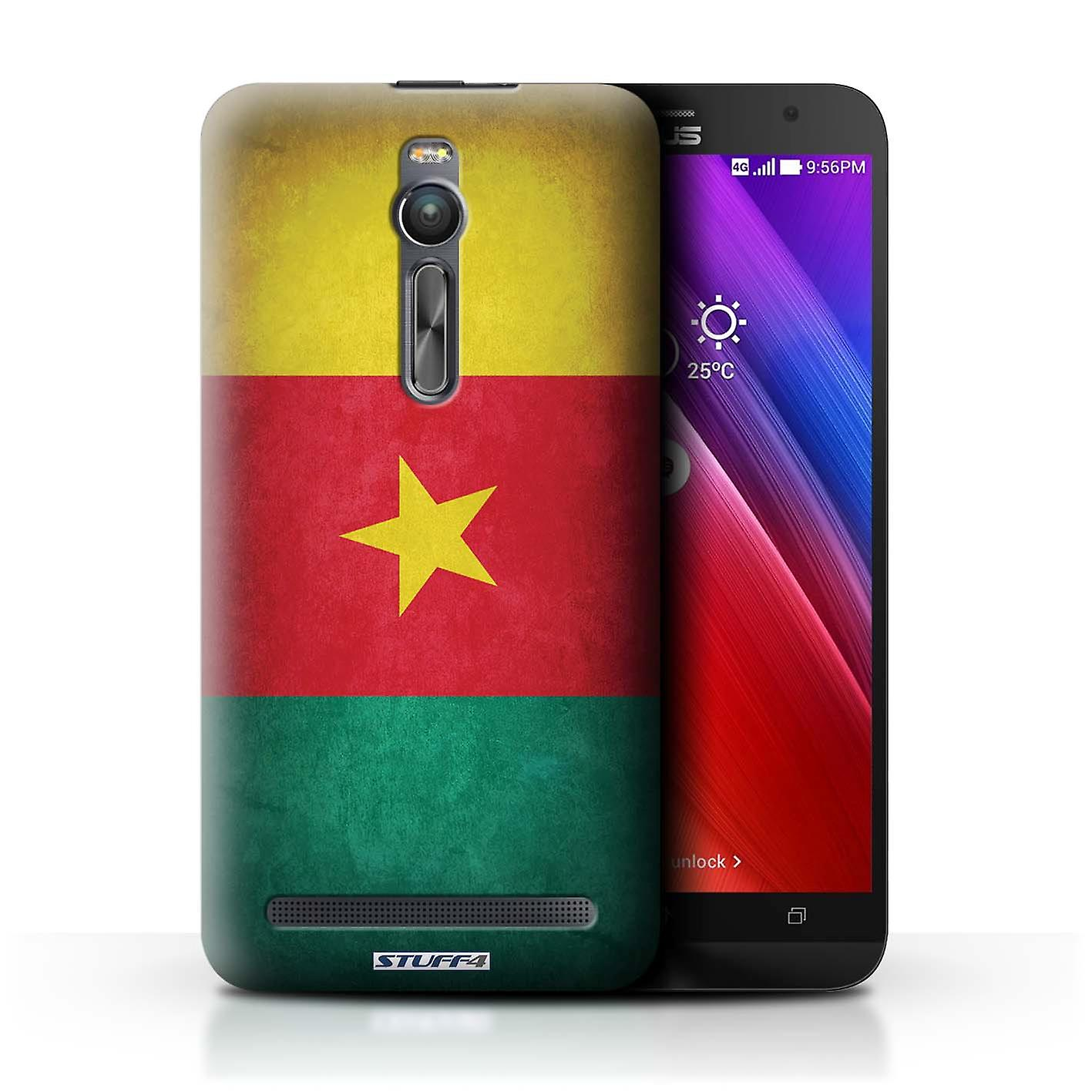 STUFF4 Case/Cover for Asus Zenfone 2 ZE551ML/Cameroon/Cameroonian/Flags