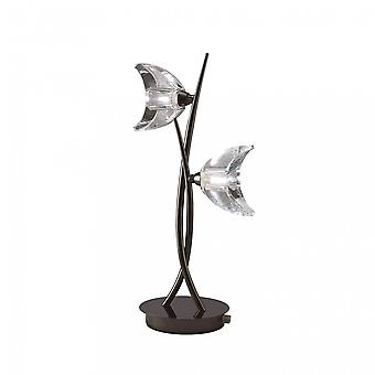Mantra Eclipse Table Lamp 2 Light G9, Black Chrome