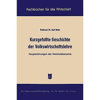 Kurzgefasste Geschichte Der Volkswirtschaftslehre Hauptstromungen Der Nationalokonomie by Muhs & Karl