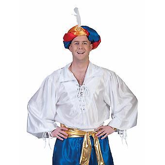 Sultan Aladin Shirt Men's Costume Pirate Musketeer Men's Costume