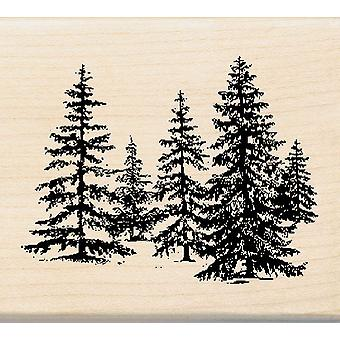 Inkadinkado Wood Mounted Rubber Stamp Dd Stand Of Pines Stampdd 96488