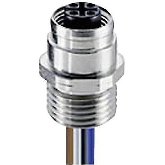 Lumberg Automation 108776 RKFM 5/0,5 M Panel Coupler FIXCON/M12, Front Mounting Silver