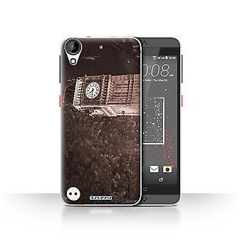 STUFF4 Case/Cover for HTC Desire 630/Big Ben Sepia/London England