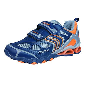 Geox Trainers J Tornado A Boys Velcro Shoes - Navy Blue