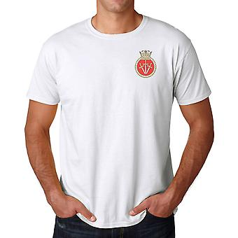HMS Vengeance Embroidered Logo - Royal Navy Submarine Official MOD Ringspun T Shirt