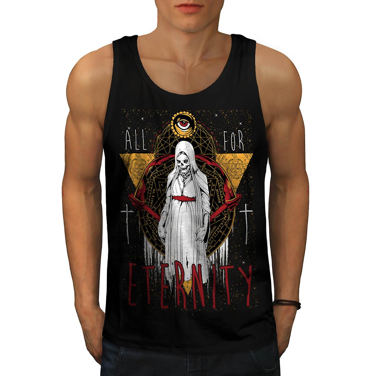 Eternal Death Lady Eternity Life Men Black Tank Top | Wellcoda