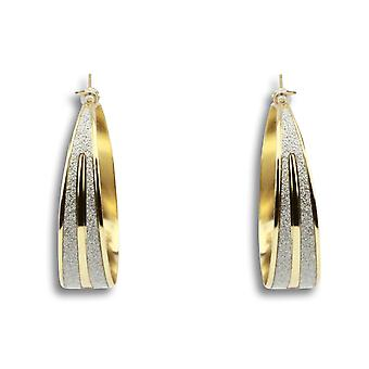 Leona gold and silver hoop earrings
