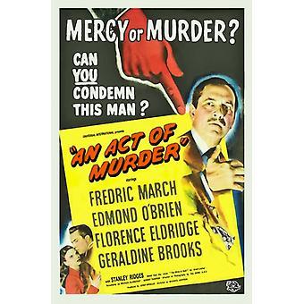 Un acto de asesinato verano Wars Movie Poster (11 x 17)