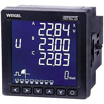 Weigel WPM 735 E-H-T-AO-V3 Mains-analysis device, Mains analyser