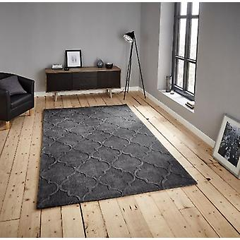 HK 8583 Charcoal  Rectangle Rugs Plain/Nearly Plain Rugs