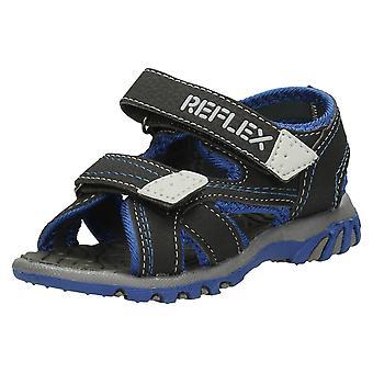 Los muchachos del reflejo N0014 de sandalia de la correa del Velcro