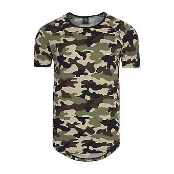 Spartans history basic oval shirt men's T-Shirt camouflage 400ST