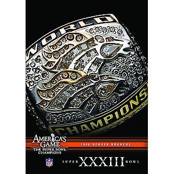 NFL Amerika spil: Broncos (Super Bowl Xxxiii) [DVD] USA importerer
