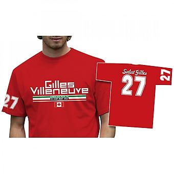 Retro GP Gilles Villeneuve 27 T-Shirt Red