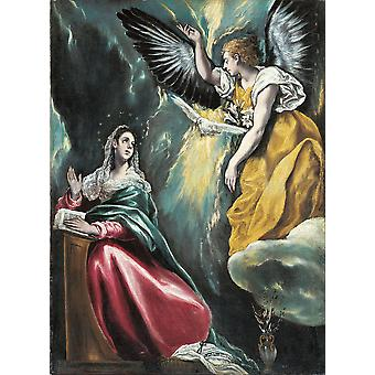El Greco - Annunciation Poster Print Giclee
