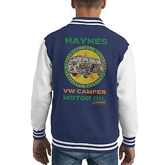 Haynes Marke VW Camper Motoröl Kid Varsity Jacket