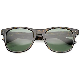 Retro Wide templer glas linse Horn kantede solbriller 55mm