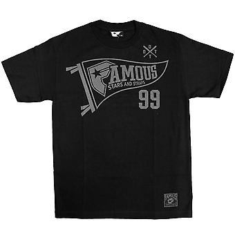 Stars célèbres et sangles 99 pendentif T-Shirt noir gris