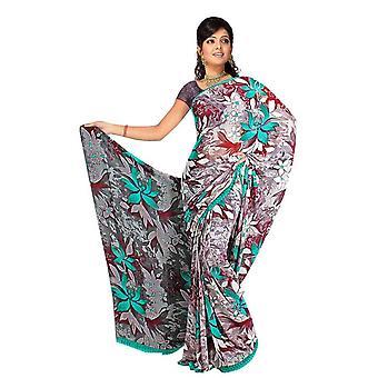 Tela de Devi Georgette impresos Casual sari Sari Bellydance