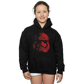 Star Wars Girls The Last Jedi Stormtrooper Red Cubist Helmet Hoodie