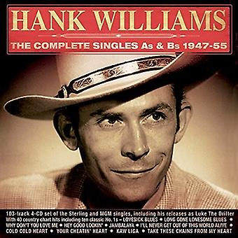 Hank Williams - Williams Hank-Complete Singles as & B [CD] USA import