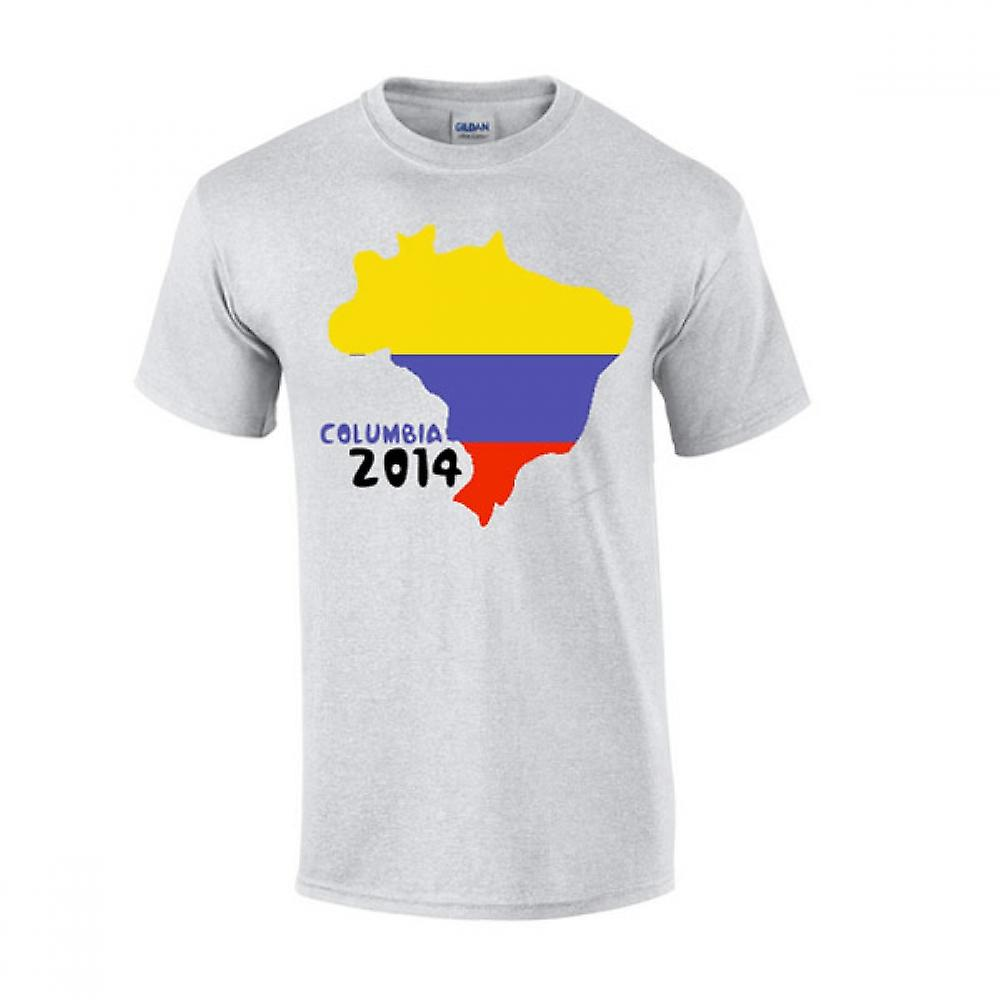 Columbia 2014 Country Flag t-shirt (grigio)