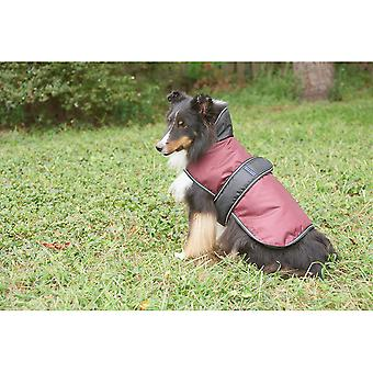 Dog Artic Coat-Burgundy Medium 752525