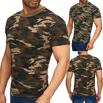 Men's camouflage T-Shirt print superior top short sleeve stretch shirt camouflage pattern