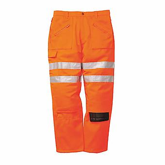 Portwest - Schiene Hi-Vis Sicherheit Workwear Rail Track Seite Aktion Hosen