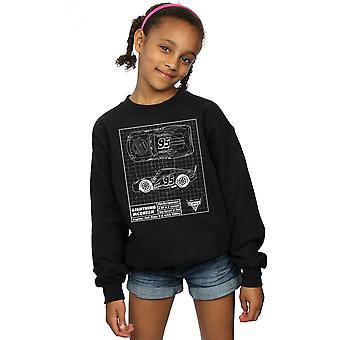 Disney Girls Cars Lightning McQueen Blueprint Sweatshirt