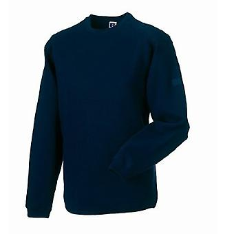 Russell Workwear Mens Crew Neck Set In Sweatshirt Top