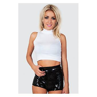 The Fashion Bible High Neck Top In White