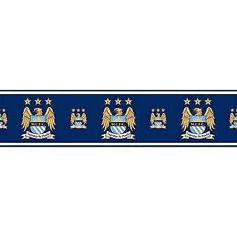 Official Manchester City Football Wallpaper Border MCFC Soccer Blues Etihad 5m