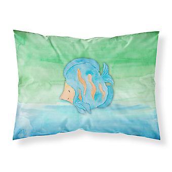 Blue Fish Watercolor Fabric Standard Pillowcase